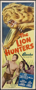 "Movie Posters:Adventure, The Lion Hunters (Monogram, 1951). Insert (14"" X 36""). Adventure.Starring Johnny Sheffield, Morris Ankrum, Ann E. Todd and ..."