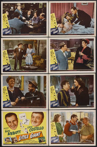 "Little Giant (Universal, 1946). Lobby Card Set of 8 (11"" X 14""). Comedy. Starring Bud Abbott, Lou Costello, Br..."