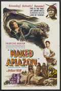 "Movie Posters:Adventure, Naked Amazon (John Alexander, 1954). One Sheet (27"" X 41"").Adventure. Starring Andrea Bayard, Dercy Goncalves, Angela Maria..."
