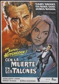 """Movie Posters:Hitchcock, North by Northwest (MGM, R-1970s). Spanish Poster (27"""" X 39"""").Thriller. Starring Cary Grant, Eva Marie Saint, James Mason a..."""