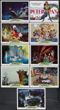 "Movie Posters:Animated, Peter Pan (Buena Vista, R-1969). Lobby Card Set of 9 (11"" X 14""). Animated Adventure. Starring the voices of Bobby Driscoll,... (Total: 9 Item)"