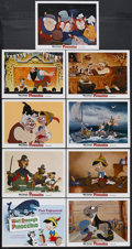 "Movie Posters:Animated, Pinocchio (Buena Vista, R-1978). Lobby Card Set of 9 (11"" X 14""). Animated Musical. Starring the voices of Dickie Jones, Cli... (Total: 9 Item)"