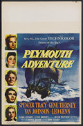 "Movie Posters:Adventure, Plymouth Adventure (MGM, 1952). Window Card (14"" X 22""). Adventure.Starring Spencer Tracy, Van Johnson, Gene Tierney and Da..."