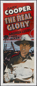 "Movie Posters:War, The Real Glory (Other Company, 1939). Insert (14"" X 36""). War.Starring Gary Cooper, Andrea Leeds, David Niven, Reginald Owe..."