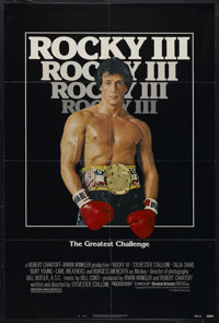 """Rocky III (United Artists, 1982). One Sheet (27"""" X 41""""). Sports Drama. Starring Sylvester Stallone, Carl Weath..."""