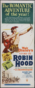 "Movie Posters:Adventure, The Story of Robin Hood (RKO, 1952). Insert (14"" X 36""). Adventure.Starring Richard Todd, Joan Rice, Peter Finch and James ..."