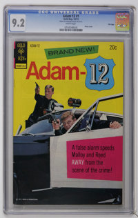 Adam 12 #1 File Copy (Gold Key, 1973) CGC NM- 9.2 White pages. Photo cover. Overstreet 2006 NM- 9.2 value = $95. CGC cen...