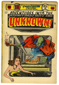 Golden Age (1938-1955):Science Fiction, Adventures Into The Unknown #51 (ACG, 1954) Condition: VG. 3-Deffect cover and story; only issue of title with white cover....