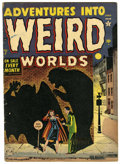 Golden Age (1938-1955):Horror, Adventures Into Weird Worlds #7 (Atlas, 1952) Condition: GD/VG.Tongue ripped out. Overstreet 2006 GD 2.0 value = $28; VG 4....