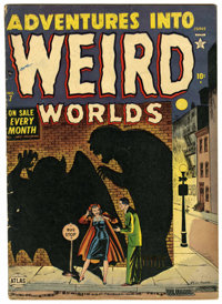 Adventures Into Weird Worlds #7 (Atlas, 1952) Condition: GD/VG. Tongue ripped out. Overstreet 2006 GD 2.0 value = $28; V...