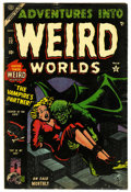 "Golden Age (1938-1955):Horror, Adventures Into Weird Worlds #22 Davis Crippen (""D"" Copy) pedigree(Atlas, 1953) Condition: FN. Overstreet 2006 FN 6.0 value..."
