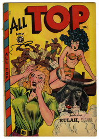 All Top Comics #14 (Fox Features Syndicate, 1948) Condition: VG/FN. Matt Baker cover and art. Used in Seduction of the I...