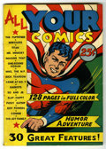 All Your Comics #1 Mile High pedigree (Fox, 1946) Condition: VF/NM. Red Robbins and Merciless the Sorceress stories. Onl...