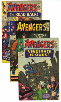 The Avengers #20-22 Group (Marvel, 1965). Includes #20 (VF+), 21 (FN+), and 22 (VF+). Jack Kirby covers, Don Heck art, a...