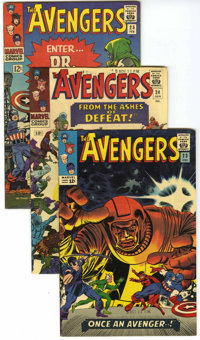 The Avengers #23-29 Group (Marvel, 1965-66) Condition: Average VF. Includes #23 (inks by John Romita Sr., his first Silv...
