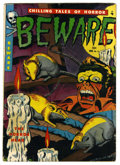 Golden Age (1938-1955):Horror, Beware #11 (Youthful Magazines, 1952) Condition: VG-. AmbroseBierce adaptation. Harry Harrison art. Overstreet 2006 VG 4.0 ...