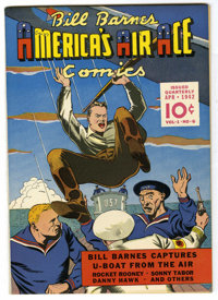 Bill Barnes Comics #6 Mile High pedigree (Street & Smith, 1942) Condition: NM-. Overstreet 2006 NM- 9.2 value =...