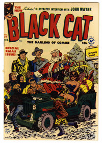 Black Cat Comics #27 Mile High pedigree (Harvey, 1951) Condition: VF+. Christmas cover by Lee Elias. Two-page John Wayne...