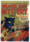 Golden Age (1938-1955):Horror, Black Cat Mystery #31 Mile High pedigree (Harvey, 1951) Condition:NM-. Overstreet 2006 NM- 9.2 value = $270. From the Joh...