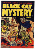 Golden Age (1938-1955):Horror, Black Cat Mystery #32 Mile High pedigree (Harvey, 1951) Condition:VF+. Art by Rudy Palais and Bob Powell. Overstreet 2006 V...