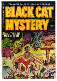 Black Cat Mystery #35 Mile High pedigree (Harvey, 1952) Condition: NM-. Atomic disaster cover and story. Art by Bob Powe...