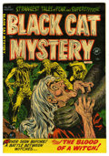 Golden Age (1938-1955):Horror, Black Cat Mystery #38 Mile High pedigree (Harvey, 1952) Condition:VF. Lee Elias cover. Overstreet 2006 VF 8.0 value = $138....