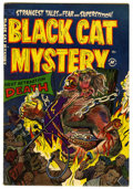 Golden Age (1938-1955):Horror, Black Cat Mystery #42 Mile High pedigree (Harvey, 1953) Condition:FN/VF. Joe Certa art. Overstreet 2006 FN 6.0 value = $72;...