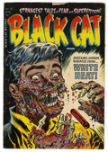 Golden Age (1938-1955):Horror, Black Cat Mystery #50 (Harvey, 1954) Condition: VG+. Classic WarrenKremer cover depicting a man's hands and face burning aw...