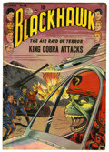 "Golden Age (1938-1955):War, Blackhawk #58 Davis Crippen (""D"" Copy) pedigree (Quality) Condition: GD. Reed Crandall cover and art. Overstreet 2006 GD 2.0..."