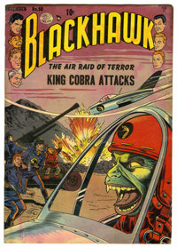 """Blackhawk #58 Davis Crippen (""""D"""" Copy) pedigree (Quality) Condition: GD. Reed Crandall cover and art. Overstre..."""
