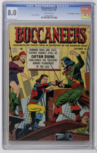 """Buccaneers #23 Davis Crippen (""""D"""" Copy) pedigree (Quality, 1950) CGC VF 8.0 Off-white pages. Reed Crandall art..."""