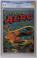 "Golden Age (1938-1955):Science Fiction, Captain Aero Comics #26 Davis Crippen (""D"" Copy) pedigree (HolyokePublications, 1946) CGC FN- 5.5 Cream to off-white pages...."