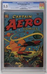 "Captain Aero Comics #26 Davis Crippen (""D"" Copy) pedigree (Holyoke Publications, 1946) CGC FN- 5.5 Cream to of..."