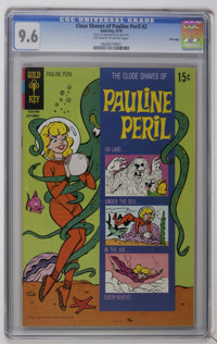 The Close Shaves of Pauline Peril #2 File Copy (Gold Key, 1970) CGC NM+ 9.6 Off-white to white pages. According to the C...