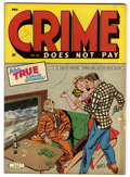 Golden Age (1938-1955):Crime, Crime Does Not Pay #40 (Lev Gleason, 1945) Condition: VG/FN. Charles Biro cover. Overstreet 2006 VG 4.0 value = $80; FN 6.0 ...