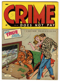 Crime Does Not Pay #40 (Lev Gleason, 1945) Condition: VG/FN. Charles Biro cover. Overstreet 2006 VG 4.0 value = $80; FN...