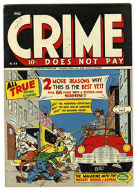 "Crime Does Not Pay #44 Mile High pedigree (Lev Gleason, 1946) Condition: VF/NM. ""Legs"" Diamond story. Charles..."