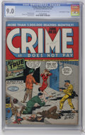 """Golden Age (1938-1955):Crime, Crime Does Not Pay #52 Davis Crippen (""""D"""" Copy) pedigree (Lev Gleason, 1947) CGC VF/NM 9.0 Cream to off-white pages. Charles..."""