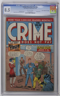 "Crime Does Not Pay #60 Davis Crippen (""D"" Copy) pedigree (Lev Gleason, 1948) CGC VF+ 8.5 Off-white pages. Char..."