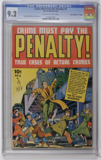 """Crime Must Pay the Penalty #2 Davis Crippen (""""D"""" Copy) pedigree (Ace, 1948) CGC NM- 9.2 Off-white to white pag..."""