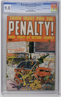 """Crime Must Pay the Penalty #4 Davis Crippen (""""D"""" Copy) pedigree (Ace, 1948) CGC VF/NM 9.0 Off-white to white p..."""