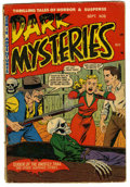 Golden Age (1938-1955):Horror, Dark Mysteries #8 (Master Publications, 1952) Condition: GD/VG.Overstreet 2006 GD 2.0 value = $43; VG 4.0 value = $86.Fr...