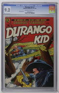Golden Age (1938-1955):Western, The Durango Kid #7 (Magazine Enterprises, 1950) CGC NM- 9.2 Off-white to white pages. This fantastic copy features an atomic...