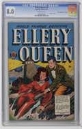 """Golden Age (1938-1955):Crime, Ellery Queen #3 Davis Crippen (""""D"""" Copy) pedigree (Superior, 1949) CGC VF 8.0 Off-white pages. Drug use stories. Overstreet ..."""