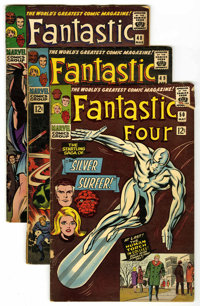 Fantastic Four #48-50 Group (Marvel, 1966) Condition: Average GD. The complete SIlver Surfer/Galactus debut saga. Includ...