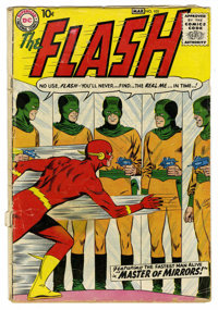 The Flash #105 (DC, 1959) Condition: PR. This is the first issue featuring the Silver Age Flash in his own title. Golden...