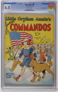 "Four Color #18 Little Orphan Annie's Junior COmmandos - Davis Crippen (""D"" Copy) pedigree (Dell, 1942) CGC FN+..."