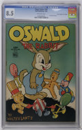 "Golden Age (1938-1955):Funny Animal, Four Color #39 Oswald the Rabbit - Davis Crippen (""D"" Copy)pedigree (Dell, 1944) CGC VF+ 8.5 Off-white pages. Overstreet 20..."