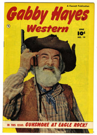 Gabby Hayes Western #19 Mile High pedigree (Fawcett, 1950) Condition: NM-. Last photo back cover. Overstreet 2006 NM- 9...