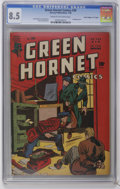 "Golden Age (1938-1955):Adventure, Green Hornet Comics #28 Davis Crippen (""D"" Copy) pedigree (Harvey, 1946) CGC VF+ 8.5 Cream to off-white pages. Bondage cover..."